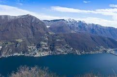 View over Lugano Lake - Switzerland Royalty Free Stock Image