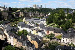 The view over Luxembourg Royalty Free Stock Photography