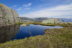 View over Lysefjord Stock Photography