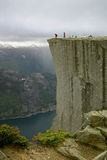View over the Lysefjord and prekestolen in Norway Stock Photography
