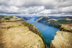 View over Lysefjord Royalty Free Stock Image
