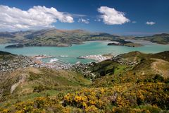 View over Lyttelton Royalty Free Stock Images
