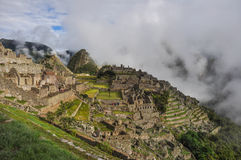 View over Machu Picchu Inca ruins, Peru Stock Photos