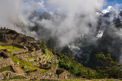 View over Machu Picchu Inca ruins, Peru Stock Image