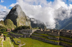 View over Machu Picchu Inca ruins, Peru Royalty Free Stock Photography