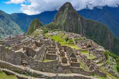 View over Machu Picchu Inca ruins, Peru Stock Photography