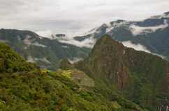 View over Machu Picchu, Peru Royalty Free Stock Images