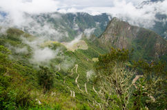 Hiram Bingham Highway to Machu Picchu, Peru Stock Photos