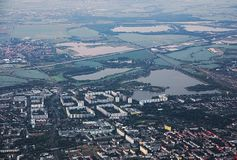 View Over Magdeburg To The North Stock Image