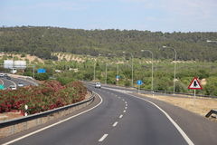 View over the Majorca highway Royalty Free Stock Photo
