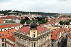 View over Mala Strana Prague Czech republic Europe Royalty Free Stock Photography