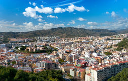View over Malaga City Royalty Free Stock Photography