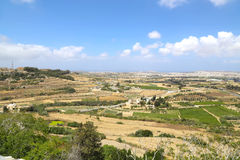 View over Malta. View of the island of Malta in Europe Royalty Free Stock Photos