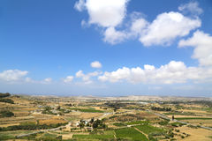 View over Malta. View of the island of Malta in Europe Stock Photography