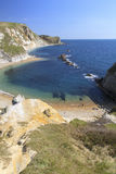 View over Man of War Bay. Portrait photo showing Man of War Bay, near Lulworth, Dorset Royalty Free Stock Photography
