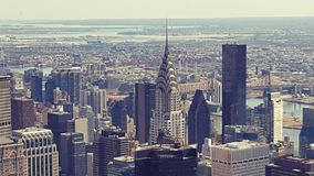 View over Manhattan from Empire State Building Stock Photo