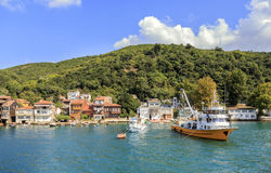 View over marina in kavagi village, Istanbul,Turkey. Stock Photography