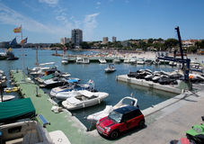 View over the marina Stock Photography