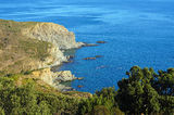 View over the marine reserve of Cerbere Banyuls. Coastal view over the marine reserve of Cerbere Banyuls in the Mediterranean sea, Roussillon, Vermilion coast Royalty Free Stock Photos