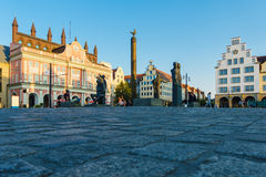 View over the market square Neuer Markt in Rostock, Germany Royalty Free Stock Photos