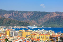 View over Marmaris resort town in Turkey Royalty Free Stock Photo
