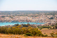 View over Marsaxlokk bay, Malta Royalty Free Stock Images