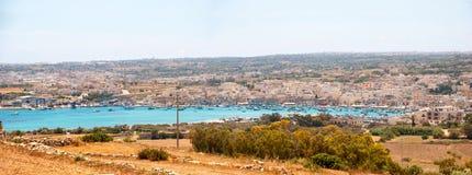 View over Marsaxlokk bay, Malta Stock Image