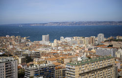 View over Marseille from Notre Dame Royalty Free Stock Image