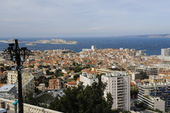 View over Marseille from Notre Dame Royalty Free Stock Photos