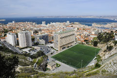 View over Marseille from Notre Dame Stock Photo