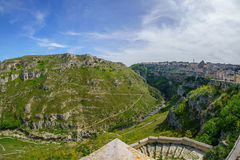 View over Matera. In Italy Royalty Free Stock Photo