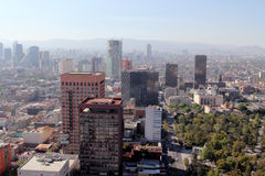 View over Mexico City, Mexico. A view of downtown Mexico City, Mexico Royalty Free Stock Photos