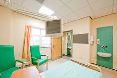 View over a modern hospital room Royalty Free Stock Image