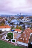 View over the modern part of Vilnius, Lithuania stock photography