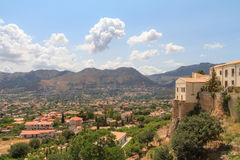 View over Monreale. Summer Landscape of Sicily and Cityscape of Palermo, shot from Monreale Stock Images