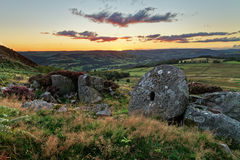 View over moorlands Royalty Free Stock Photo
