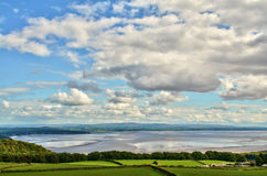 View over the Morecambe Bay estuary Royalty Free Stock Photo