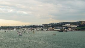 View over Mount Batten Plymouth. England Autumn 2018 horizontal photography stock image
