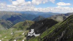 View over the Fagaras Mountains. It includes the peaks Vistea Mare and Moldoveanu - Romania