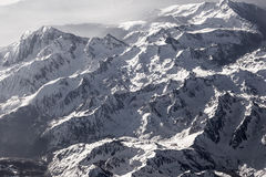 View over mountains of the pyrenees Royalty Free Stock Photos