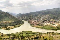 View over Mtskheta Royalty Free Stock Image