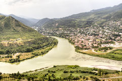 View over Mtskheta Stock Photo