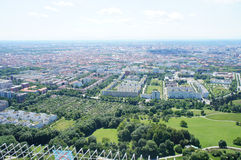 View over Munich, Bavaria in Germany Stock Photo