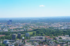 View over Munich, Bavaria in Germany Royalty Free Stock Image