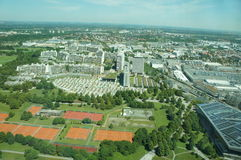 View over Munich in Bavaria, Germany Royalty Free Stock Photos