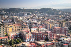 View over Naples in Italy Royalty Free Stock Images