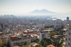 View over Naples with the Vesuvius Royalty Free Stock Photo