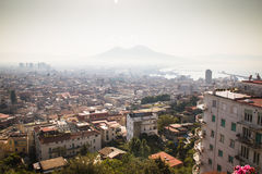 View over Naples with the Vesuvius Stock Image