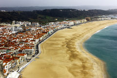 View over Nazare at Portugal Royalty Free Stock Images