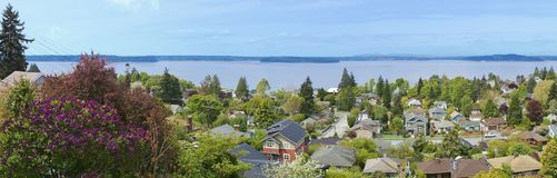 View over neighboorhood in West Seattle. WA. Stock Image